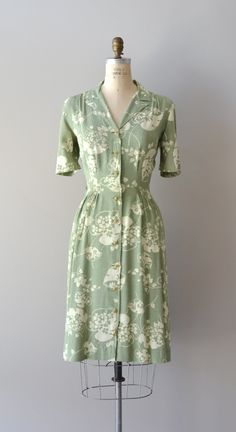 1940s Island Fronds dress