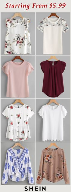 I like the white scallop edge tee, tulip sleeve pink tee, burgundy tee is part of fitness fitness -