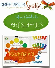 art supply PDF                      Teaching Art at Home (part 3 of a series) - includes a printable list. Awesome!!