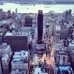 View from top of Manhattan.  @ Empire State Building. NEW YORK, NY
