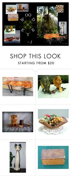 """""""Wood Eye"""" by stuffezes ❤ liked on Polyvore featuring interior, interiors, interior design, home, home decor, interior decorating, modern and vintage"""