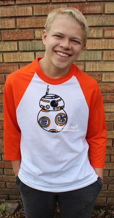 Star Wars BB8 Baseball Raglan Shirt