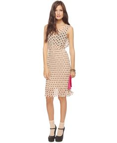Polka dots AND pleats! Only thing is it's pretty sheer looking