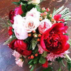 We love peonies and this bouquet is stunning!  #utahweddings #willowspecialtyflorist #utahbrideandgroom #utahflorists