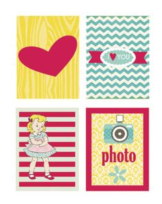 Free Sweet Girl Filler Cards {available in both Silhouette and PDF format} from coeur de beurre