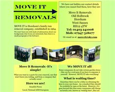Move it Removals - Horsham Horsham West Sussex, Time Website, House Removals, How To Remove, Reading, Word Reading, The Reader, Reading Books, Libros