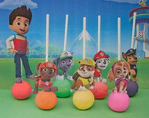 Paw Patrol Cake Pop (Cupcake) Topper Printable - DIGITAL - All 7 characters for Paw Patrol Party