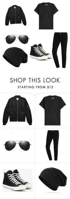 """""""🖤"""" by ocelf ❤ liked on Polyvore featuring AMIRI, Converse, men's fashion and menswear"""