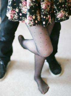 floral skirt / dots