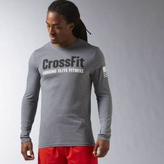 Reebok CrossFit Forging Elite Fitness Long Sleeve Tee - Grey