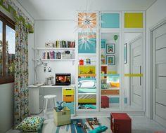 Des chambres d'enfant déco hyper colorées