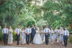 ajp_waynemagen_married-601.jpg Groomsmen | Bow Ties | Suspenders | Brown Leather | Grey | Oxfords | Blush | Brevard Zoo Wedding | Rustic | Southern Charm | Bridesmaids | Bride & Groom | Grey dresses | Blush Wedding Dress