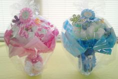 Diaper bouquets girl and boy
