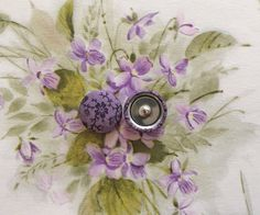 Purple Button Earrings / Wholesale Jewelry / by ManhattanHippy