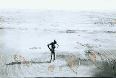 Anselm Kiefer, Ich halte alle Indien in meiner Hand (I hold all the Indias in my hand) (1995), Gouache and pencil on photograph, 34.3 × 59 cm