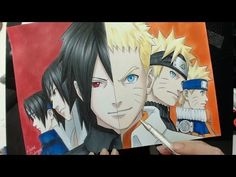 Speed Drawing - Sasuke | Naruto (Naruto) - YouTube