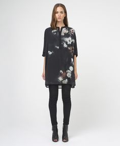 PASSION SHIRT - JET BLACK/ FLORAL - New In - Womens - £70