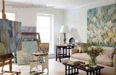Veranda Robert Rea Georgetown home and artwork - living room
