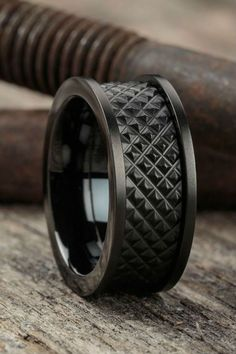 The perfect gift for your man - buy mens jewelry, mens costume jewelry rings, mens costume jewelry Wedding Men, Wedding Bands, Rustic Wedding, Style Masculin, Men's Accessories, Matte Black, Rings For Men, Cool Mens Rings, Jewelry Design