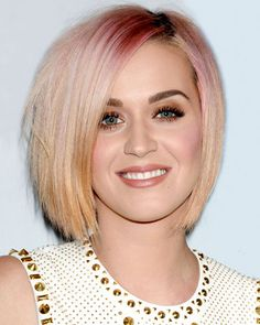 Love Katy Perry's reverse ombre bob! Pink fades to platinum.