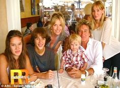 rod stewart wife and children | Rod Stewart says eighth child will definitely be his last | Mail ...