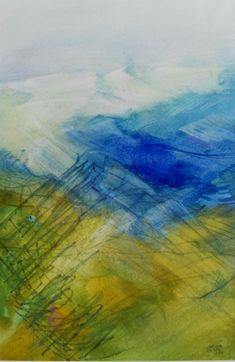 """""""Landscape VII"""" Aquarell Vienna Gouache, Vienna, Landscape, Painting, Art, Glow Paint, Vibrant Colors, Abstract Art, Watercolor"""