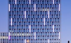 Selux — Königsstadt Carrée. Exterior facade linear fixtures