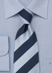 Krawatte Streifen silberblau dunkelblau günstig kaufen