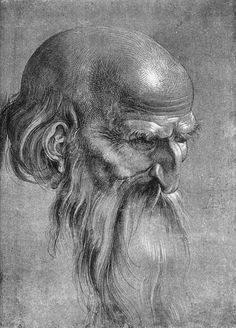Albrecht Dürer (German, Head of an Apostle Looking Downward 1508 brush drawing with white highlights on a dark background x cm x in) Albertina National Museum of Art, Vienna, Austria Brush Drawing, Nose Drawing, Drawing Artist, Painting & Drawing, Pencil Drawings, Art Drawings, Charcoal Drawings, Contour Drawings, Figure Drawings