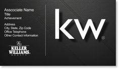 Keller Williams Real Estate Agents Business Card