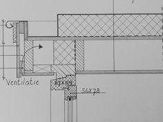 Dakkapel detail getekend