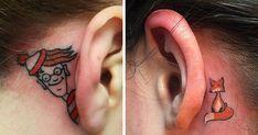 16+ Creative Ear Tattoos That Would Make Mike Tyson Hungry | Bored Panda