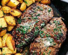#BİFTEK VE PATATES ULUSLARIN #GİDALARİ #yemek Steak Recipes Pan, Skirt Steak Recipes, Grilled Steak Recipes, Turkey Recipes, Grilling Recipes, Beef Recipes, Water Recipes, Healthy Diet Recipes, Healthy Meal Prep