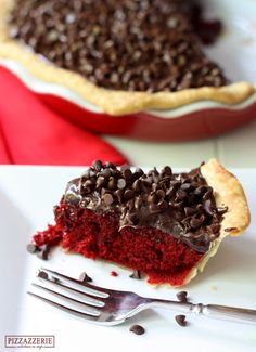 Red Velvet Fudge Pie! OH so delicious!