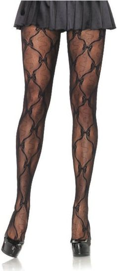 Leg Avenue Bow Lace Tights Bow lace pantyhose [LA-9930] - £8.25 : Get It On Fancy Dress Superstore, Fancy Dress & Accessories For The Whole Family. http://www.getiton-fancydress.co.uk/accessories/hosiery/tights/legavenuebowlacetights#.Usyg5Pu6-RM