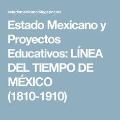 Estado Mexicano y Proyectos Educativos: LÍNEA DEL TIEMPO DE MÉXICO (1810-1910)