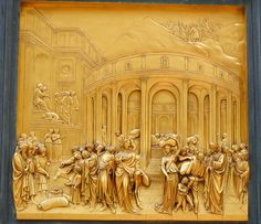 Door of Paradise - The Story of Joseph The beautiful East Door of the Baptistery in Florence with scenes from the Old Testament. This panel tells the story of Joseph. Lorenzo Ghiberti received the commission for the East Doors in 1425 and they took 27 years to complete.