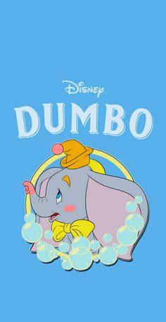 Disney Phone Wallpaper, Kawaii Wallpaper, Cartoon Wallpaper, Iphone Wallpaper, Cute Disney, Walt Disney, Dumbo Cartoon, Disney Background, Disney Tsum Tsum