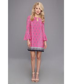 Make a stylish statement in this stand-out Juicy Couture® dress.. Luxuriously soft silk constructs...