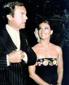 Natalie with husband Robert Wagner #black