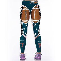 Women 3D prints Sporting Uniforms Leggings American NFL Sportswear Bodybuilding Pants   #clothing #women #leggings #sportswear #pants #activewear #fitnessapparel