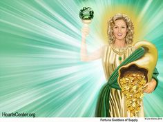 Fortuna Comes with a Personal Dispensation of Abundance for Heartfriends and for The Hearts Center
