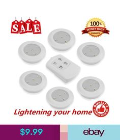 Lightmates wireless led puck lights rp 005 yo9rp 005 2 remotes 10 wall fixtures 6pcs led wireless kitchen counter under cabinet closets lighting puck light sale ebay aloadofball Gallery