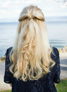 Blond hair. #hairstyle #blonde