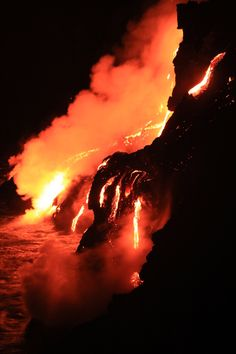 10 Awesome Photos Of Hawaii's Volcano Spewing Lava Into The