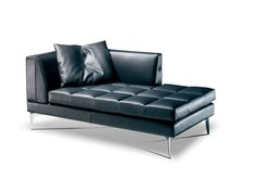 Upholstered leather day bed PRESTIGE | Day bed - Formenti