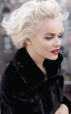 Ginta Lapina for Blackglama's fall 2012.