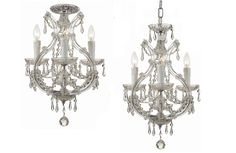 Crystorama Maria Theresa Mini Chandelier Draped in Swarovski Elements Crystal 3 Lights - Polished Chrome - 4473-CH-CL-S