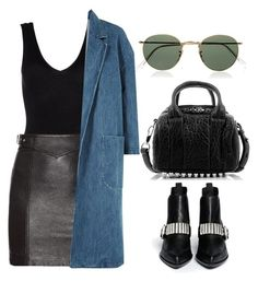 """▪️"" by aminamor ❤ liked on Polyvore featuring Hanro, Alexander Wang, Yves Saint Laurent, Sandy Liang, McQ by Alexander McQueen and Ray-Ban"