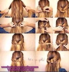This is a really cute bow hairstyle that I found :D